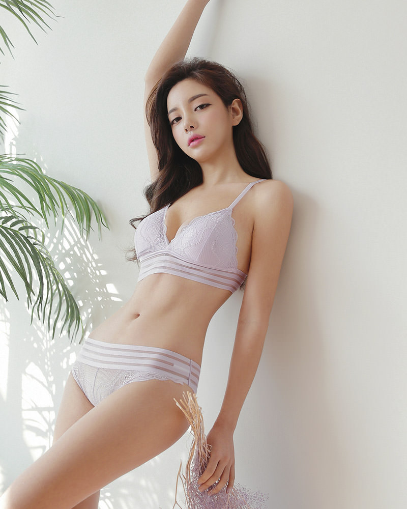 cool Korean girl in lingerie