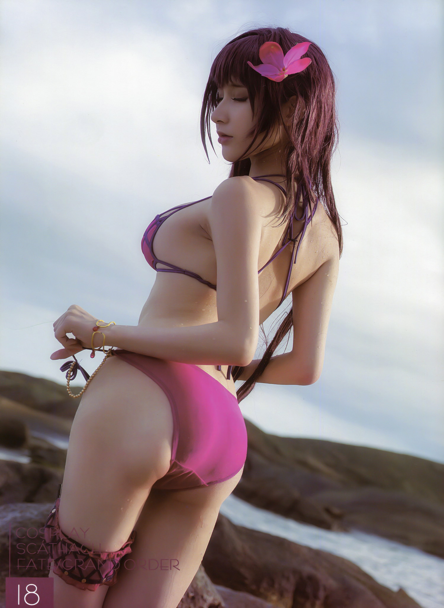 hot cosplay back